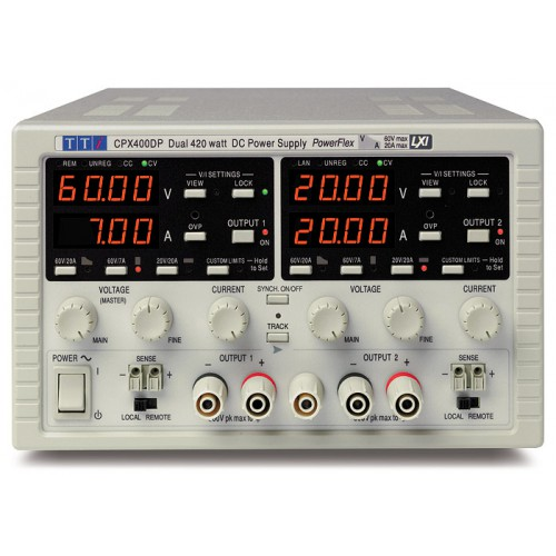 AimTTi CPX400DP DC Power Supply Dual Output 420W 60V 20A with interfaces