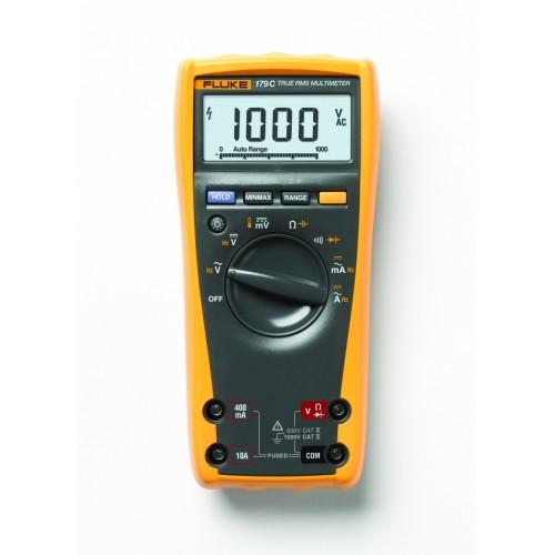 Fluke 179 TRMS Multimeter, 1000V, 10A AC / DC, 6000pt, temperature and backlight