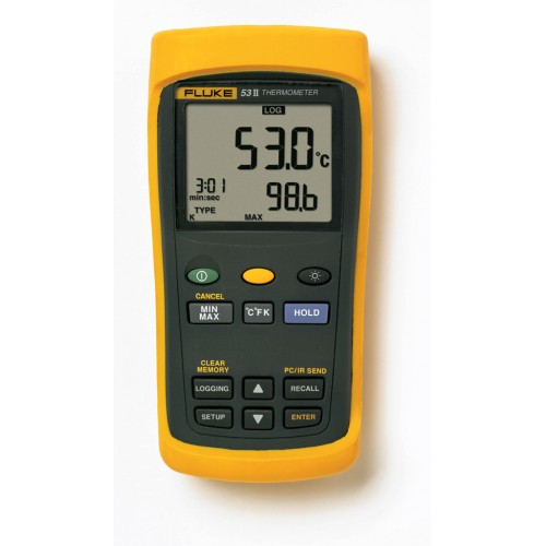 Fluke 53-2 B 50Hz Contact thermometer, 1ch thermocouples, with data logger