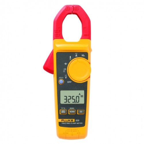Fluke 325 Clamp multimeter 400A, 600V AC / DC, TRMS, resistance, frequency and temperature
