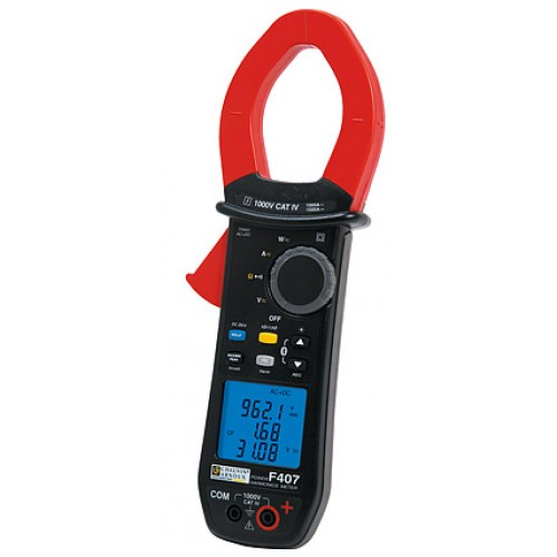 Chauvin Arnoux F407 Clamp Meter 1000A AC/1500A DC, TRMS AC+DC CAT IV, power, harmonics, diam. 48