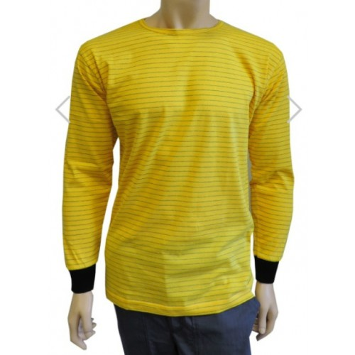 ESD T-shirt long sleeves, yellow BF001516