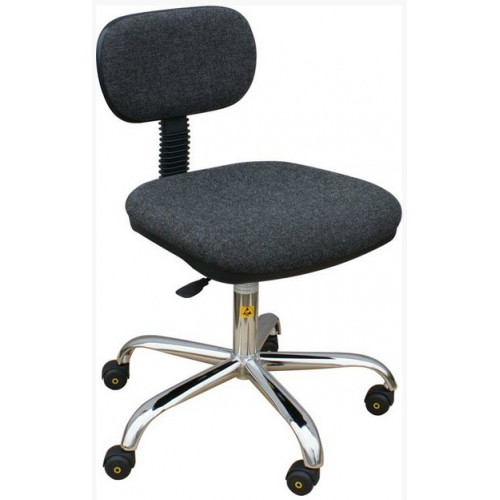Low cost ESD chair in conductive fabric with wheels