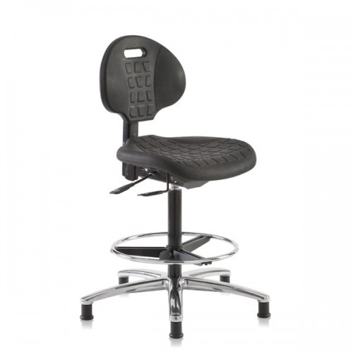 High ESD chair made polyurethane foam included foot ring and glides