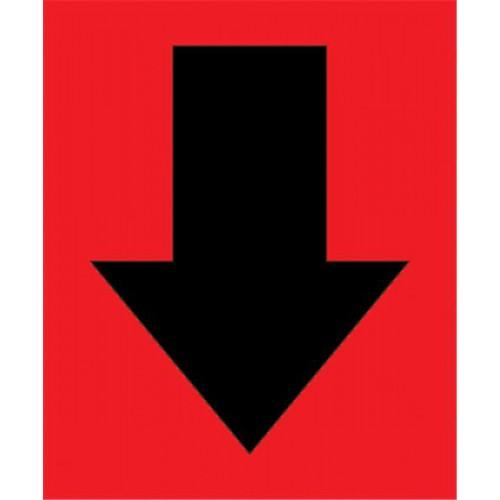 BF000185R Etichette adesive per l'identificazione di guasti e parti difettose, rosso 7.6x6.3mm
