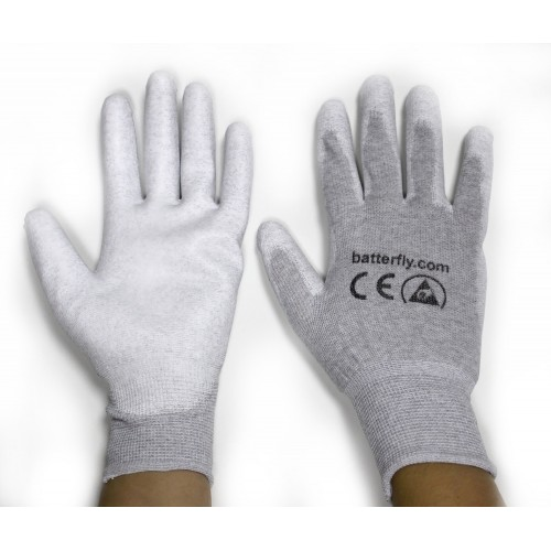 BF000072L ESD Gloves with anti-slip palm size 7/S