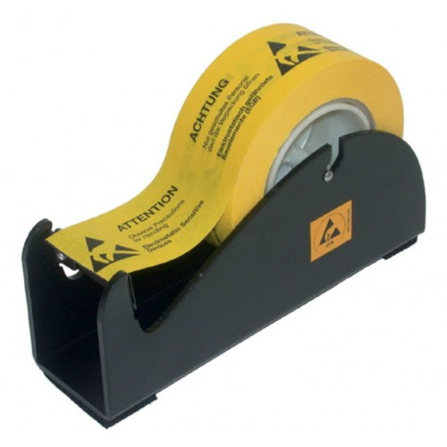 ESD Table Dispenser for adhesive tape rolls of up to max 50mm