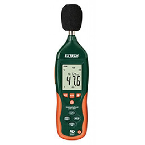 Extech HD600: Datalogging Sound Level Meter Stores up to 20,000 records with real date and time stamp