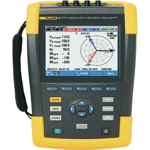 Fluke 437 II 400 Hz Power Quality and Energy Analyzer