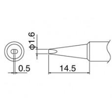 HAKKO T18-D16 Shape-1.6D punta saldante per HAKKO FX-888D