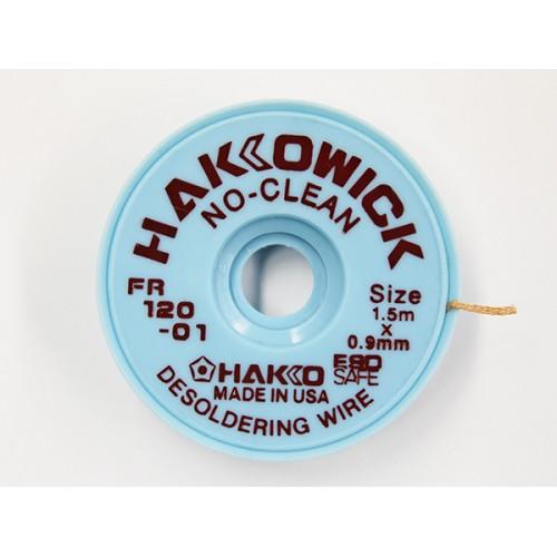 Hakko FR120-0 Desoldering Wick No Clean 0.9 mm x 1.5 mt