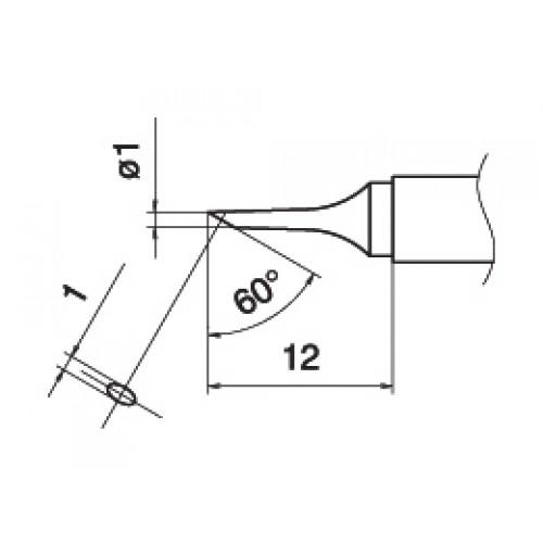 HAKKO T15-C1 Shape-1C soldering tip for handpiece FM-2027 and FM-2028