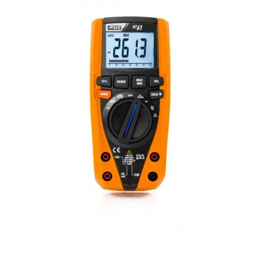 Ht Italia HT61 Multimetro digitale TRMS con 6000 punti di misura e corrente AC/DC fino a 10A