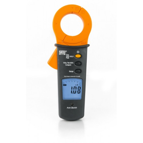 HT Italia HT77N AC clamp meter for measuring leakage currents from 10µA to 100A