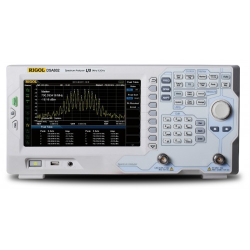RIGOL DSA832-TG Spectrum Analyzer RF with Tracking Generator 9kHz 3.2GHz DANL -161dBm Display 8 Inch WVGA (800x480)