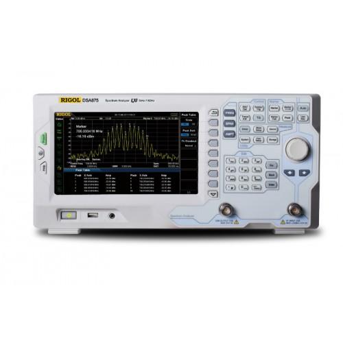 RIGOL DSA875-TG Spectrum Analyzer RF with Tracking Generator 9kHz 7.5GHz DANL -161dBm Display 8 Inch WVGA (800x480)